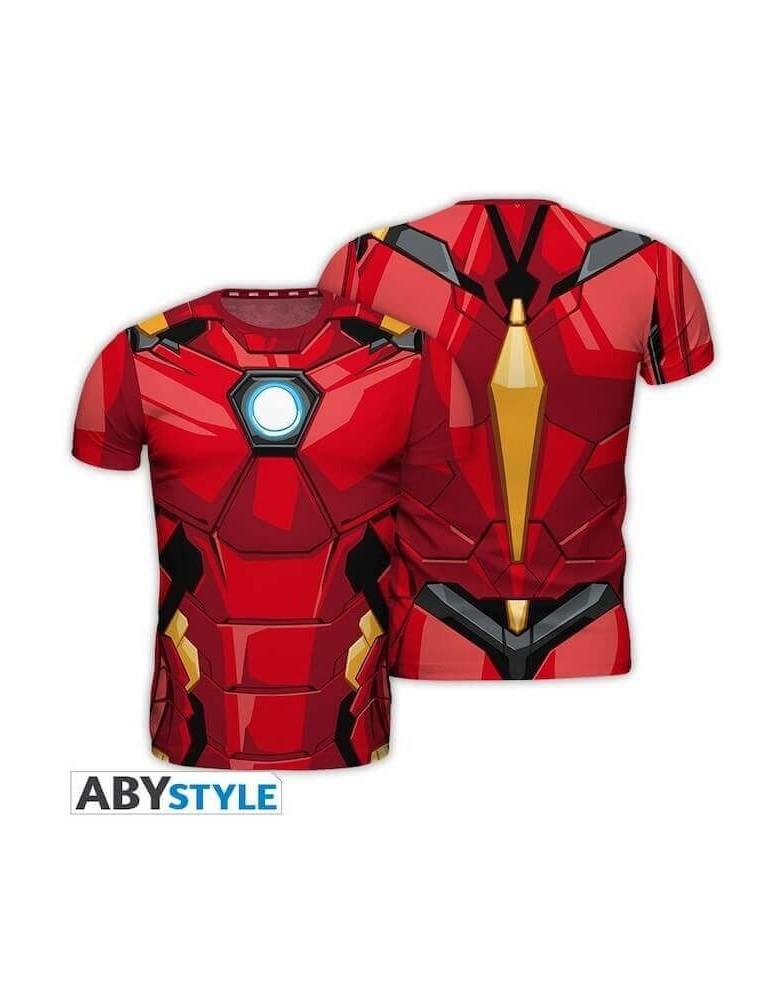 """MARVEL - T-shirt réplique """"Iron Man""""..."""