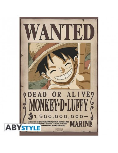 ONE PIECE - Poster «Wanted Luffy New...